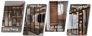 Tại sao nên sử dụng cánh kính quần áo cửa lùa trong thiết kế không gian phòng ngủ?